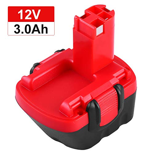 GatoPower BAT043 12V 3.0Ah Ni-MH Sostituzione Batteria per Bosch BAT045 BAT120 BAT139 2607335542 2607335526 2607335274 2607335709 per Bosch 12VE-2 PSR 12 GSB 12VE-2 22612 23612 32612
