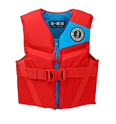 Mustang Survival - Youth Foam Life Jacket - Imperial Red, Youth (55 lbs - 88 lbs)