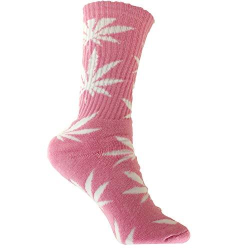 Plantlife SockenHanf Socks in universeller Größe, Unisex, Pink/Weiss, Einheitsgröße