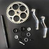 Ensamblaje de manivela ancha 36T-3 piezas, para bicicleta motorizada de gas de 2 y 4 tiempos 48cc / 66cc / 80cc