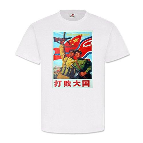 China Nordkorea wapenbroer Pjöngjang affiche reclame retro - T-shirt #25526