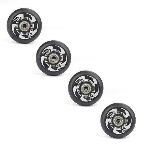 YJTGZ Inline Skate Wheels, 72Mm 76Mm 80Mm PU Inline Skates Replacement Wheel with Bearings, for Indoor Outdoor Hockey Skating(B80mm)