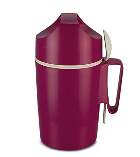 ROTPUNKT Speisegefäß 850 Dirk 0,85 l | BPA frei | Glaseinsatz | hochwertig | Raspberry