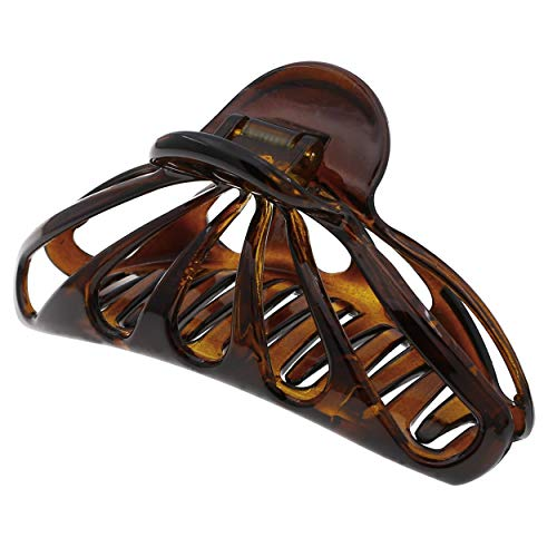 Camila Paris NV109 French Hair Clips for Women for Thick Volume Hair, Tortoise Shell, Girls Hair Claw Clips Jaw Fashion Durable Styling Hair Accessories for Women, Strong Hold Grip, Made in France