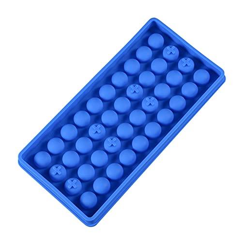 molde hielo cubiteras Herramientas de decoración de moldes de bolas redondas de 40 cavidades de silicona para moldes de silicona de chocolate con hielo para la herramienta de pastelería de decoración