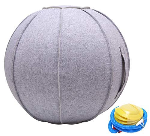 SOKLIT Gymnastikball Schwangerschaft Sitzball 65 cm, Stuhl für Büro Robust und Formstabil, mit Tragegriff und Pumpe, Gymnastikball Fitness Ball Balance Ball