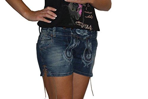 MarJo Damen Jeans Short blau Gr.32-40 (40, blau)