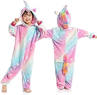 Pijama Unicornio Niños Kigurumi Onesie Unicornio Pijamas for niños Manta Animal de la Historieta del Traje de bebé durmientes Invierno Niño Niña Licorne Jumspuit (Color : U, Size : 6T)