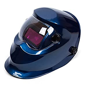 "Holulo Solar Power Variable Face Shade Auto-Darkening Welding Helmet Blue Arc Tig Mig Mask Welder Shield View size 93 mm X 43 mm(3.66"" X 1.69"")(Blue) from Holulo"