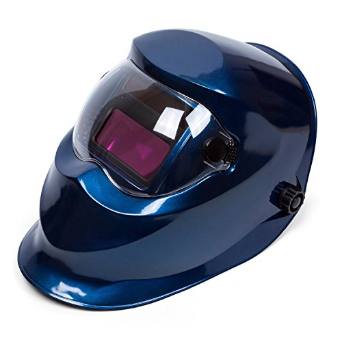 "Holulo Solar Power Variable Face Shade Auto-Darkening Welding Helmet Blue Arc Tig Mig Mask Welder Shield View size 93 mm X 43 mm(3.66"" X 1.69"")(Blue)"