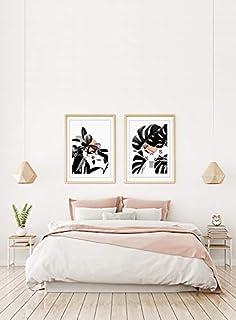Pack 2 Láminas Decorativas para enmarcar colección Minimal Plants   Feel y Kaos  Tamaño 50x70cm