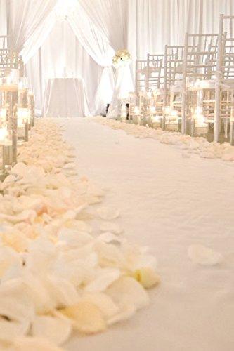 Corridore corridoio di nozze bianco 2FTx15FT Corridore corridoio con paillettes Bianco scintillante Corridore corridoio Tappeto per interni all'aperto Decorazioni per matrimoni