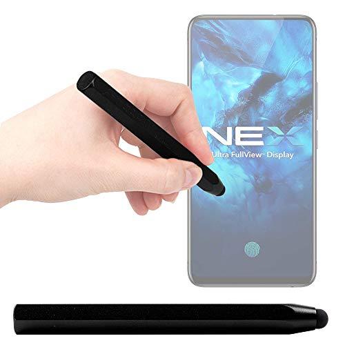 DURAGADGET Lápiz Stylus Negro Compatible con Smartphone Vivo NEX 3 5G, Vivo NEX 3 - ¡Ideal para Mejorar La Precisión En Su Pantalla!