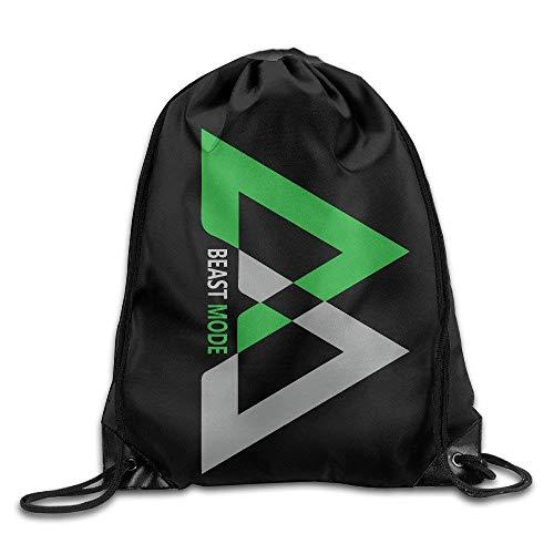 Creative Design Beast Mode Logo Marshawn Lynch #24 Football Drawstring Backpack Sport Bag for Men and Women,Drawstring Bag Sport Gym Backpack Gym Bag for Men and Women