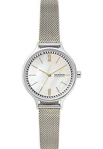 SKAGEN Reloj Analógico para Señoras de Cuarzo con Correa en Acero Inoxidable skw2908