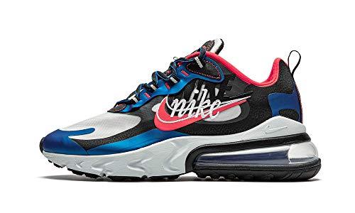Nike Air Max 270 React Uomo Running Trainers CT1616 Sneakers Scarpe (UK 7.5 US 8.5 EU 42, Imperial Blue Ember Glow Black 400)