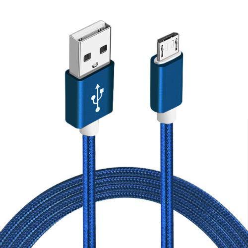 Sweet Tech Blau 1.5m Micro USB Nylon Umflochtenes Verwicklungssicheres Kabel Ladekabel Datenkabel Geeignet für Elephone A1 5