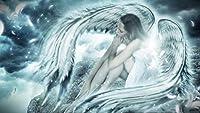 天使の羽アニメ漫画美少女 大人の子供のための5Dダイヤモンド塗装キット-フルドリルDIYラウンドダイヤモンドアートナンバーキット、クロスステッチ刺繡 40X50cm