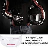 Lente de casco de motocicleta, parabrisas de casco de PC de