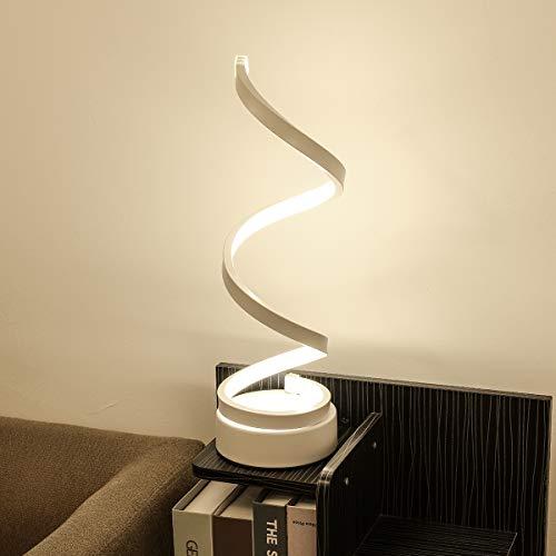 Spiral LED Desk Lamp, Curved Table Lamp,...