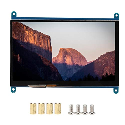7inch Touch Screen for Raspberry Pi, 1024x600 Ultra HD Capacitive Touch Display Screen Support HDMI Interface, Support Windows 7/8/10,Drive Free