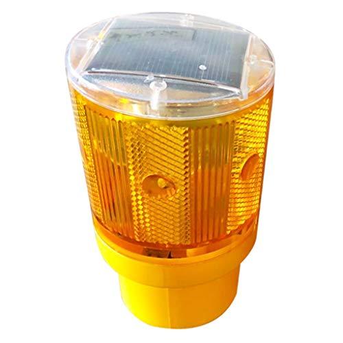 P Prettyia Warnlicht LED Solar Warnleuchte für Indoor Outdoor - Gelb