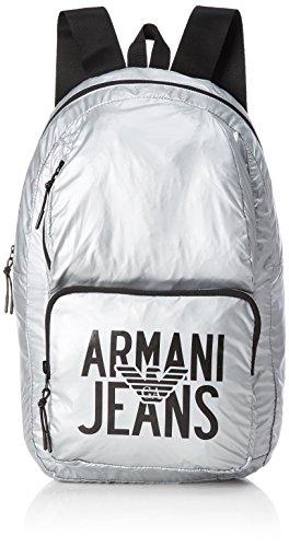 Armani Jeans - Zaino, Mochilas Hombre, Silber (Argento), 48x15x29 cm (B x...