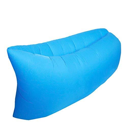 KSWD Tumbona Inflable Sofá de Aire Exterior Lazy Camping Cushion Lounge Chair Saco de Dormir portátil de Aire plegable-1pcs A