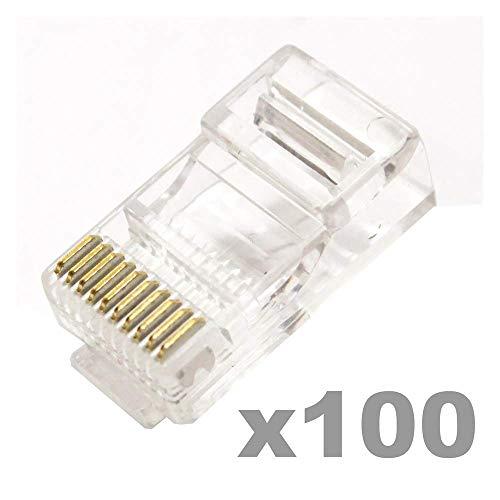 BeMatik - RJ48 Stecker RJ50 Stecker 10p10c 100 Einheiten
