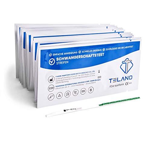 10x Telano Schwangerschaftstest Streifen Frühtest 10mIU/ml   Schwangerschaftstest Frühtest zur Frühen Erkennung einer Schwangerschaft   Frühschwangerschaftstest Streifen zur Anwendung Zuhause