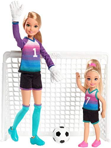 Barbie Team Stacie Doll & Chelsea Doll Soccer Playset