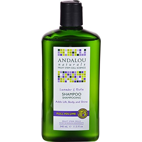 2 Packs of Andalou Naturals Full Volume Shampoo Lavender and Biotin - 11.5 Fl Oz