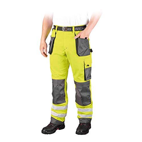 Leber&Hollman LH-FMNX-T_YSB54 Formen Schutzhose, Gelb-Grau-Schwarz, 54 Größe