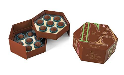 Ta Milano Caja Regalo con 14 trufas: 7 de Chocolate Negro y 7 de Chocolate Negro con Pistacho - 120 gr