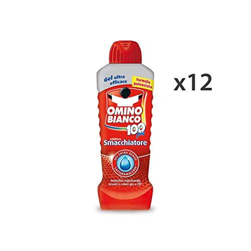 Omino Bianco Set 12 Smacchiatore Bucato Gel 900 Ml. Detergenti Casa