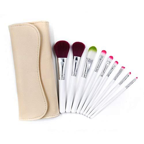 9pcs / Set Beauté Maquillage Pinceaux cosmétiques Teint Poudre Fards à paupières Lip Blend Make Up Brush Tool Kit (Handle Color : Brush with Bag)