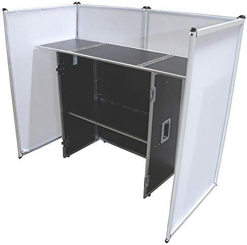 Harmony Audio Aluminum Portable DJ Facade Booth Scrim 54 Workstation Table product image