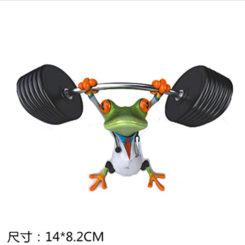 RUOXI Aufkleber Auto-Frosch-Zeichentrickfilm-Figur-Lustige Auto-Paste Reflektierende Frosch-Aufkleber-Kratzer-Block-Kratzer-Aufkleber-Schlitz-PasteFrosch Wirft Hanteln Auf