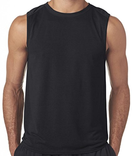 Yoga Clothing For You Mens Sleeveless Muscle Tank Top, Large Black