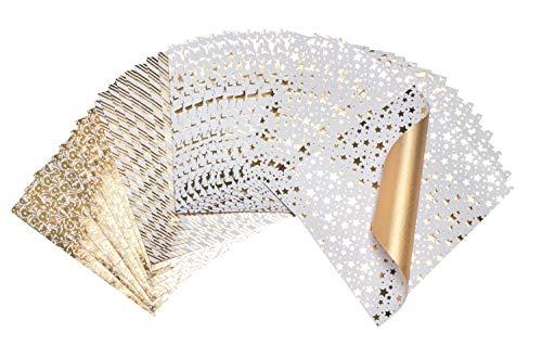 Bertels 32x Faltpapier Golden Glamour Origami-Papier Faltblätter Origami Falten