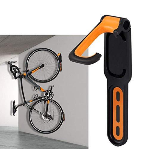 95sCloud Fahrradhalter Wandhalterung Vertikale Fahrradaufbewahrung klappbare Fahrradhalterung Fahrrad Fahrradständer für Mountainbike,MTB,E-Bikes,BMX,Road Maximales Ladegewicht: 40 lb (Orange)