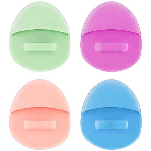 Forepina 4 Pezzi Spugnetta per la Pulizia del Viso, Silicone Facial Cleansing Brush per Pulire i Pori Eliminando i Punti Neri