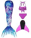 shepretty Traje de Baño de La Cola Sirena de Las Muchachas Bikini Set,xiaofenG10,110