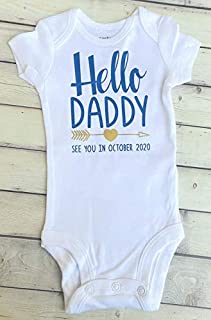 Hello Daddy -Pregnancy Announcement to Husband - Baby Announcement to Husband - hi daddy - IVF - daddy to be - I cant wait to meet you - see you in 2021 - were expecting - baby