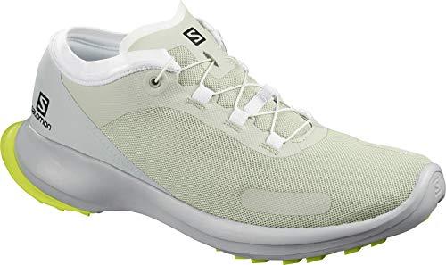 Salomon Sense Feel, Zapatillas de Trail Running Hombre, Gris (Mineral Gray/Pearl Blue/Safety Yellow), 41 1/3 EU