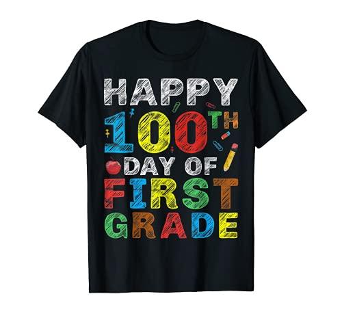 Feliz día 100 de primer grado regalo 100 días de alumno escolar Camiseta