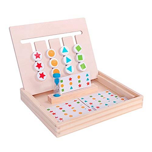 FXCO Montessori Lernspielzeug, Holz, Vier Farben, passend zum Spiel, Kinder, Kinder, Jigsaw Puzzle, Lernpuzzle
