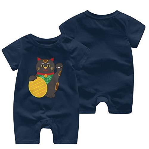 JOJOshop Lucky Zwart Kat Baby Jumpsuit Korte mouw Zomer Romper