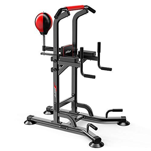 ZHFC Multifunktionale Tauchständer, umfassendes Hochleistungs-Trainingsgerät mit Boxball für Krafttraining zu Hause im Fitnessstudio 150 cm - 230 cm einstellbar
