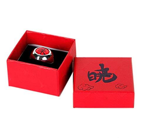 Dreamshopping Anillo Itachi Akatsuki Color Rojo Naruto Uchiha con Caja de Regalo